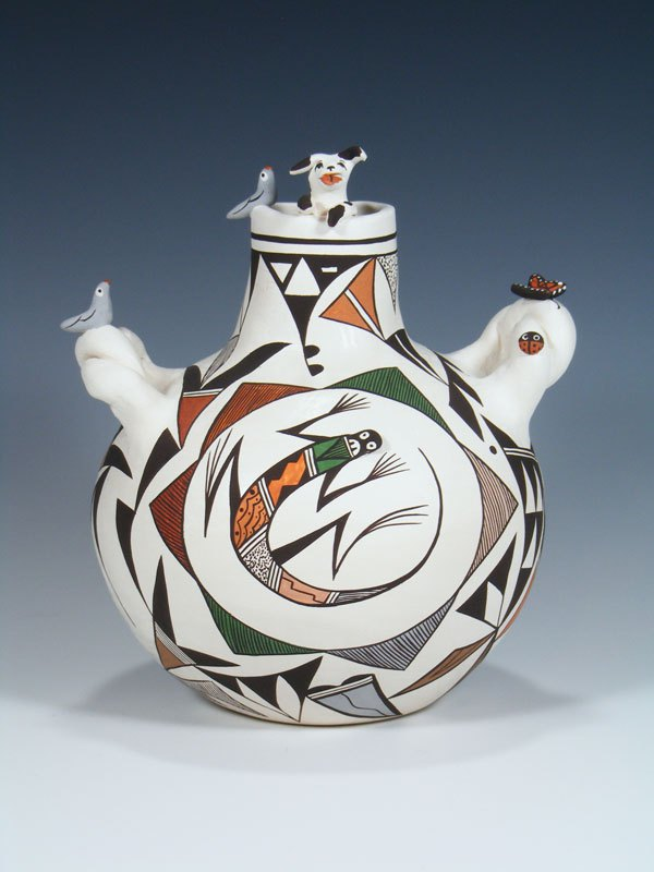 Acoma Pueblo Hand Made Pottery Storyteller Pottery