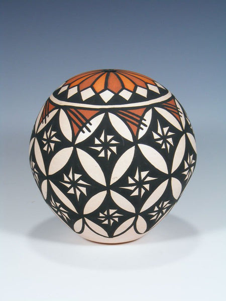 Acoma Pueblo Hand Coiled Seed Pot