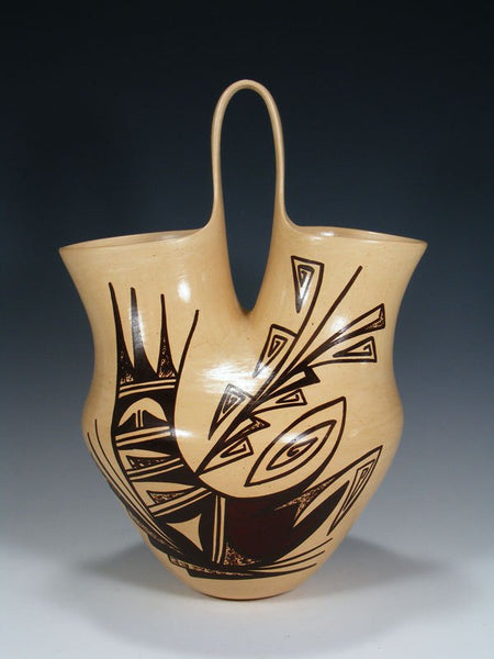 Hopi Hand Coiled Pottery Wedding Vase