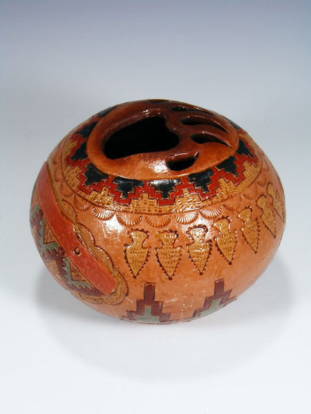 Navajo Hand Coiled Pottery Pine Pitch Seed Pot