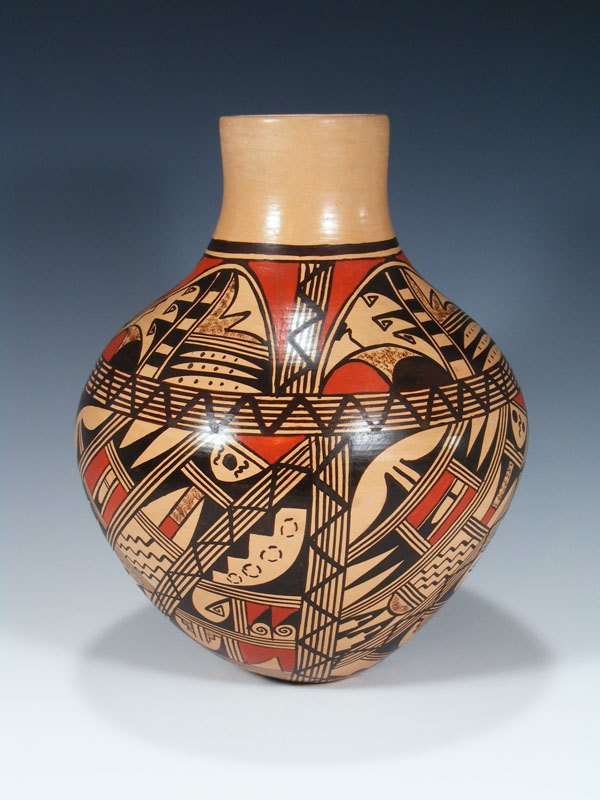 Hopi Hand Coiled Traditional Pottery Vase