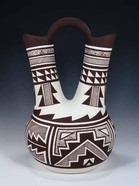Acoma Pottery Black and White Wedding Vase