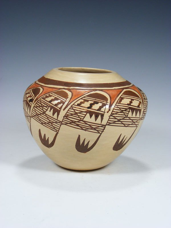 Hopi Pueblo Hand Coiled Pottery Bowl