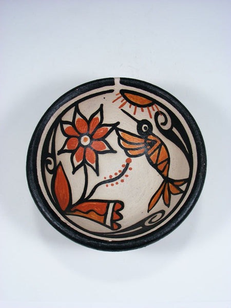 Santo Domingo Pueblo Hummingbird Pottery Bowl