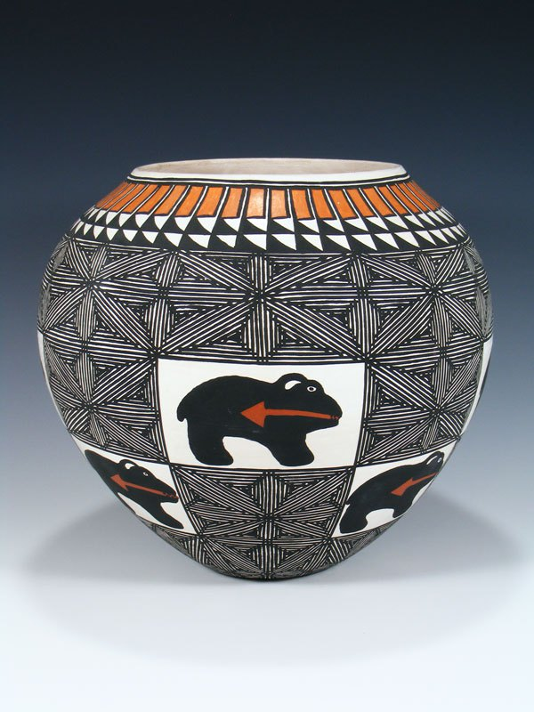 Acoma Pueblo Coiled Hand Painted Pottery