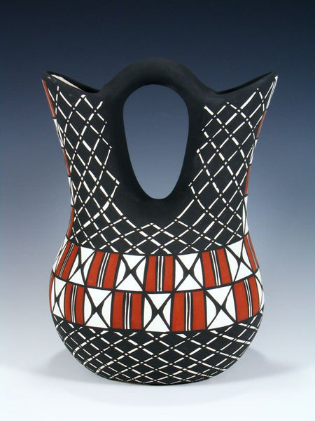 Acoma Pueblo Pottery Wedding Vase