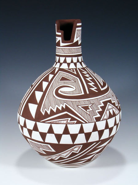 Acoma Pueblo Pottery Hand Coiled Pottery Vase