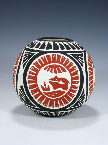 Laguna Pueblo Etched Pottery Seed Pot