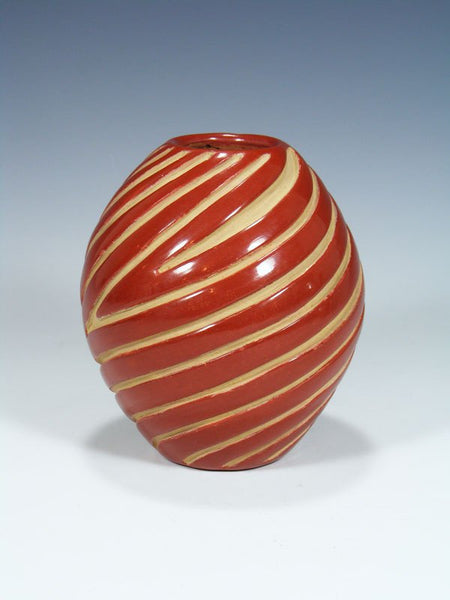 Santa Clara Pueblo Hand Coiled Red Pottery