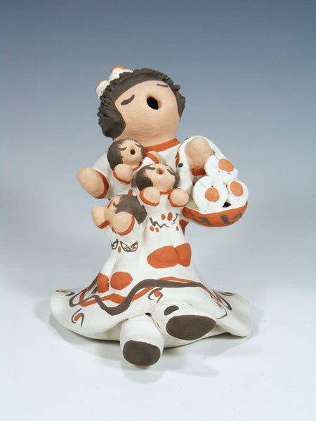 Isleta Pueblo Pottery Three Baby Storyteller