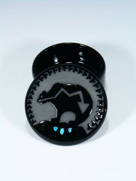 San Juan Pueblo Black Pottery Bear Jewelry Box