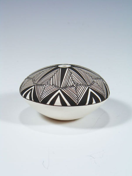 Acoma Pueblo Pottery Geometric Painted Seed Pot
