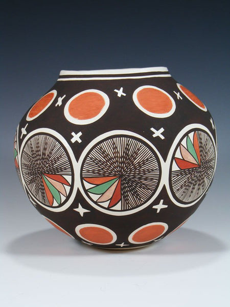 Acoma Pueblo Pottery Painted Seed Pot