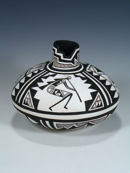 "Acoma Pueblo Hand Coiled ""Flute Player"" Pottery"