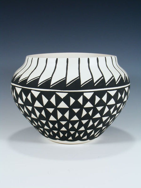 Geometric Acoma Pueblo Painted Pottery Bowl