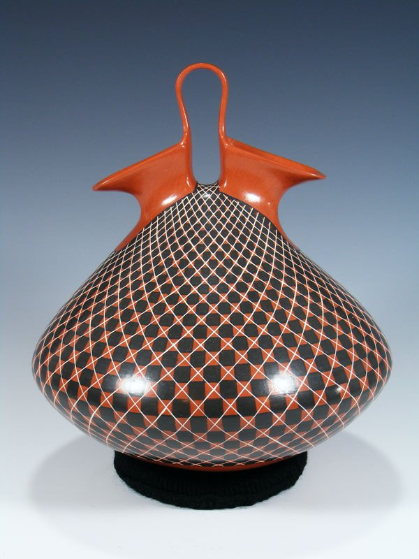 Mata Ortiz Pottery Wedding Vase