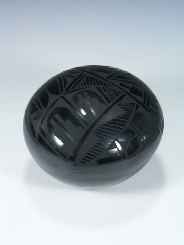 Jemez Pueblo Pottery Polished Black Seed Pot