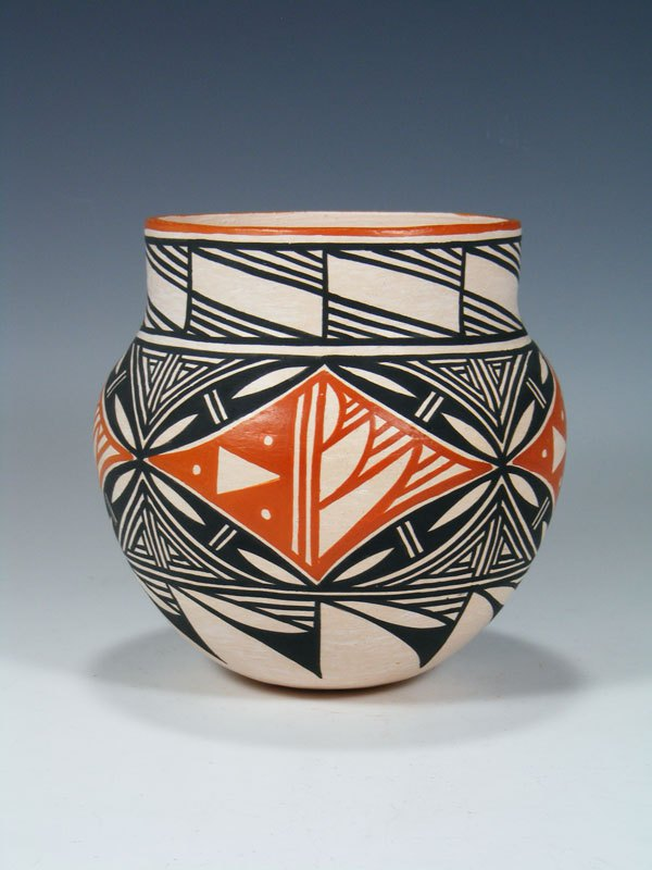 Acoma Pueblo Hand Painted Geometric Pottery