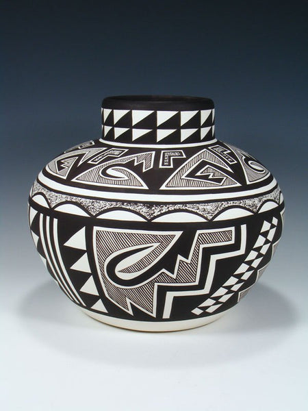 Acoma Pueblo Pottery Painted Geometric Bowl