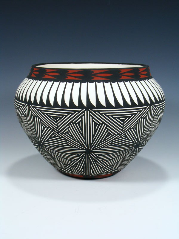 Acoma Pueblo Pottery Eye Dazzler Design Bowl