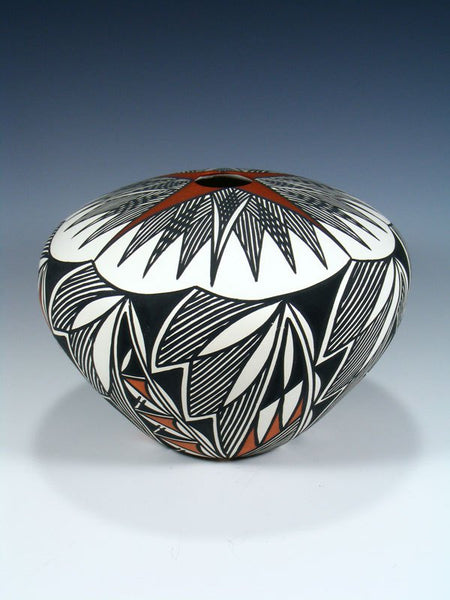 Acoma Pueblo Hand Painted Pottery Seed Pot
