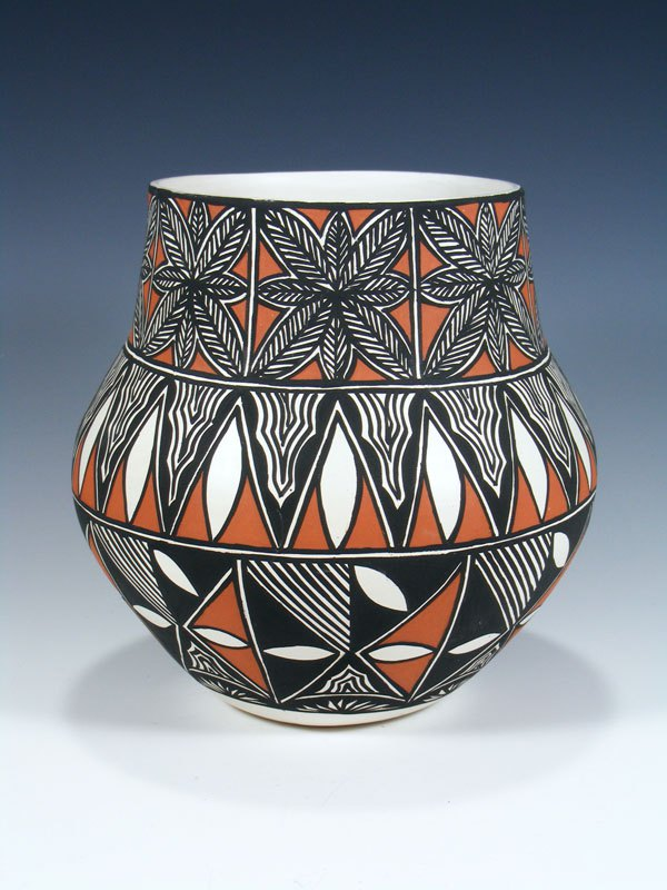 Acoma Pueblo Hand Painted Pottery Olla