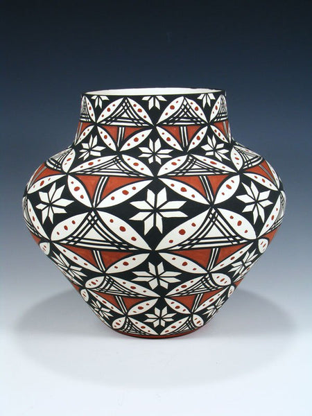Acoma Pueblo Pottery Hand Painted Olla