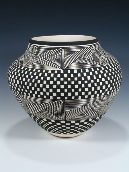 Acoma Pueblo Hand Coiled Pottery Bowl