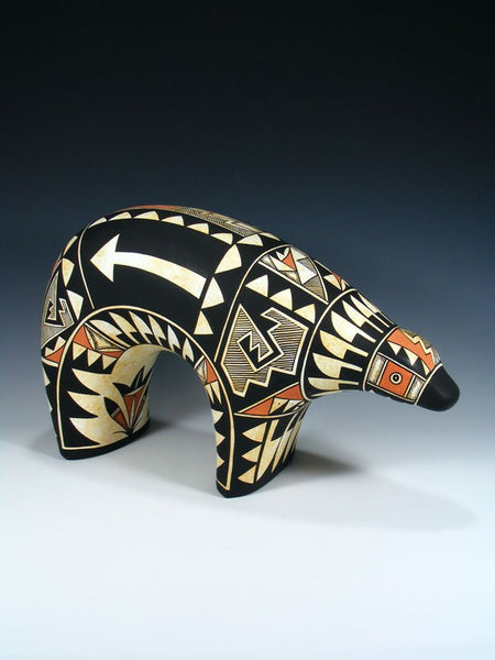 Acoma Pueblo Pottery Painted Medicine Bear