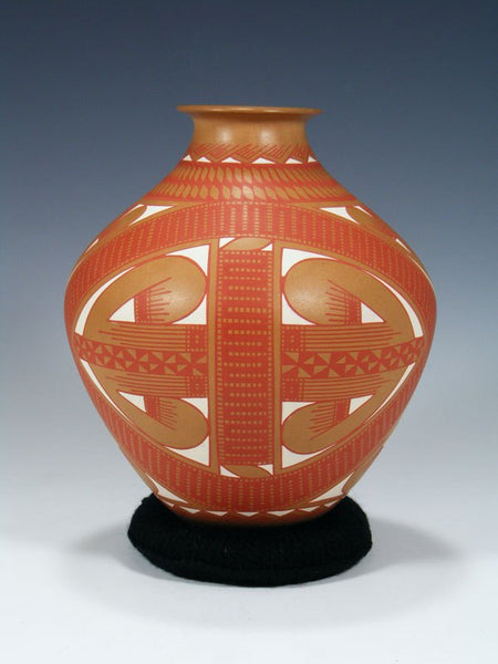 Mata Ortiz Hand Made Etched Vase