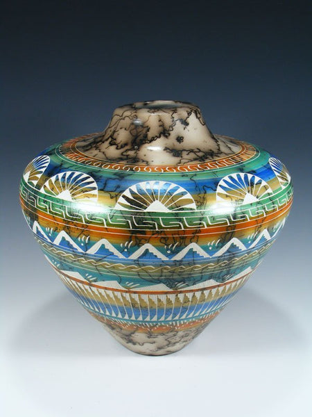 Painted Etched Navajo Horsehair Pottery