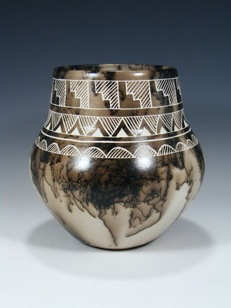 Etched Pottery Horsehair Olla