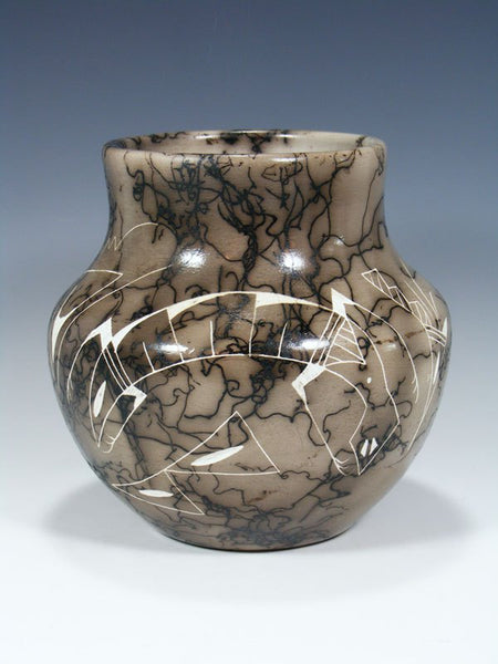Acoma Etched Horsehair Pottery