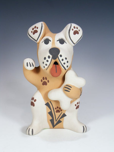 Jemez Pueblo Pottery Storyteller Dog