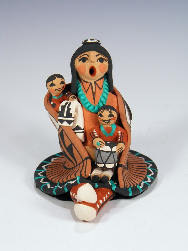 Jemez Pueblo Pottery 2 Child Storyteller