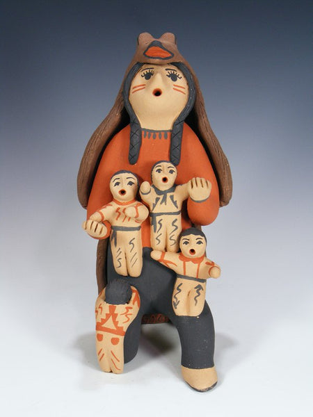 Jemez Pueblo Pottery Family Storyteller Doll