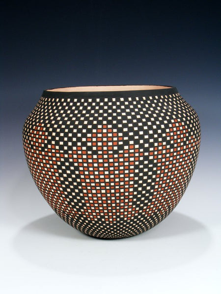 Acoma Pueblo Hand Coiled Pottery Olla
