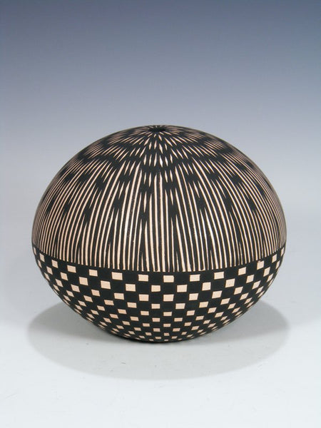 Acoma Pueblo Hand Coiled Pottery Seed Pot