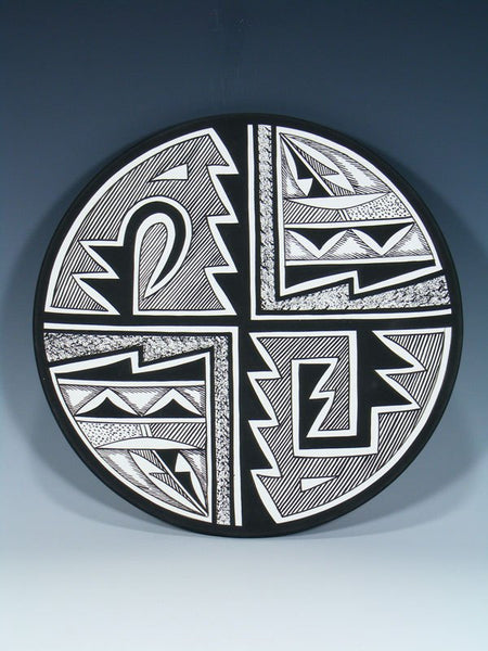 Acoma Pueblo Pottery Painted Geometric Plate