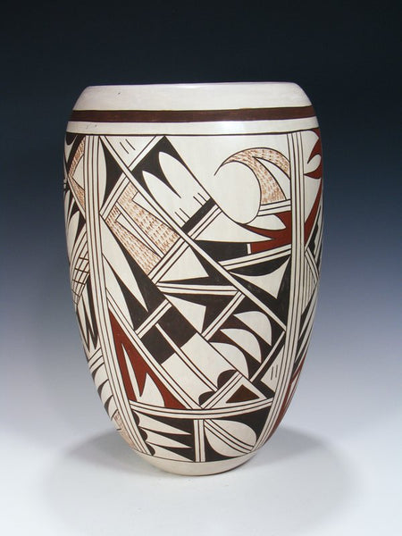 Hopi Polychrome Hand Coiled Pottery Vase