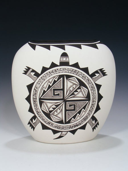 Acoma Pueblo Pottery Painted Turtle Pillow Vase