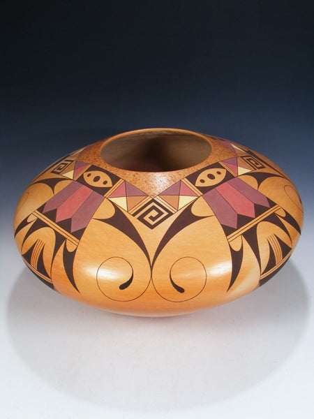 Large Hopi Hand Coiled Pottery Bowl Olla