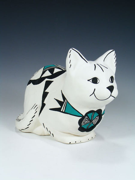 Acoma Pueblo Pottery Storyteller Cat