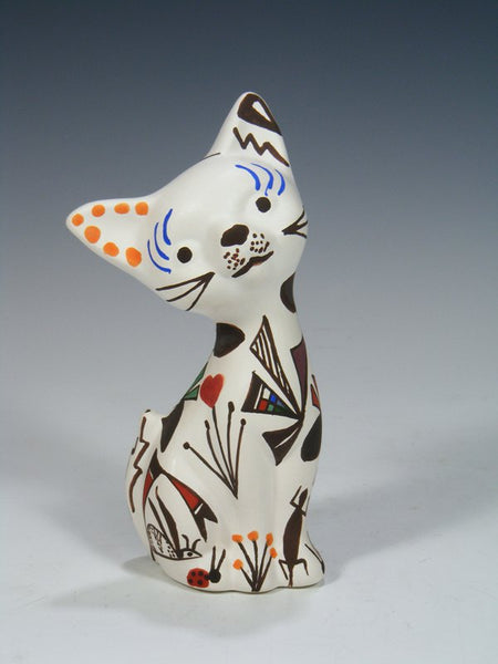 Acoma Pueblo Handpainted Pottery Cat