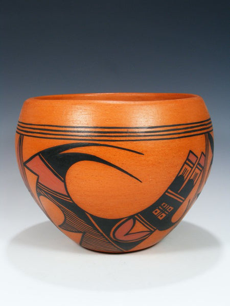 Hopi Hand Coiled Pueblo Pottery Bowl