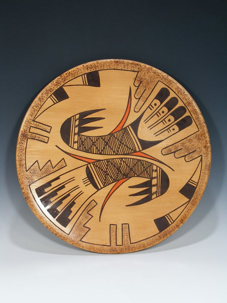 Hopi Hand Coiled Pottery Plate