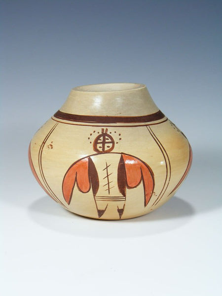 Hopi Hand Coiled Pottery Seed Pot