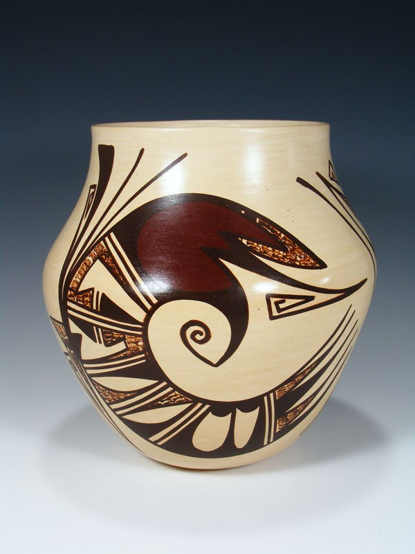Hopi Hand Coiled Pottery Olla