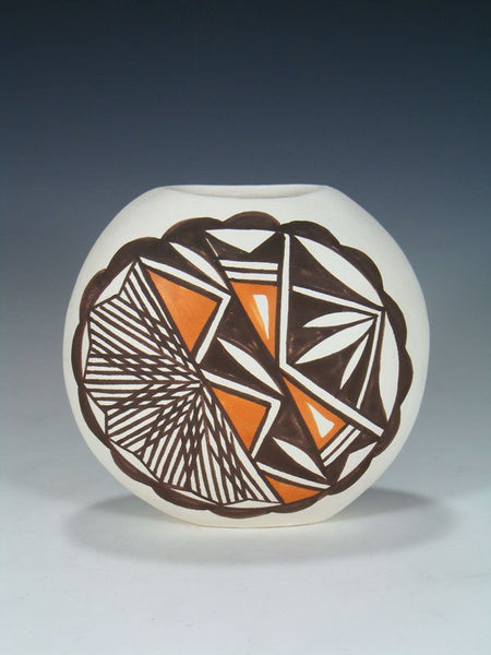 Acoma Pueblo Pottery Hand Painted Pillow Vase