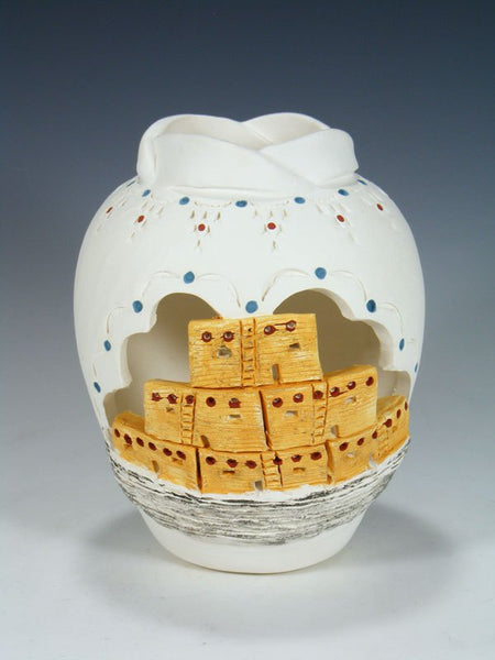 Acoma Hand Painted Pottery Pueblo Vase